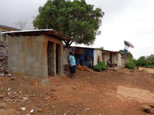 toilets beside Evans School